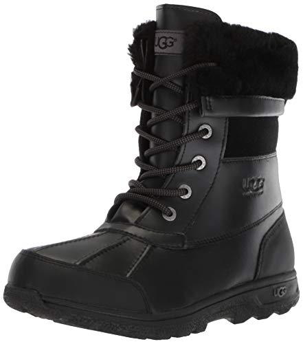 UGG Unisex-Kids K Butte II Cwr Snow Boot, Black, 4 M US Big Kid