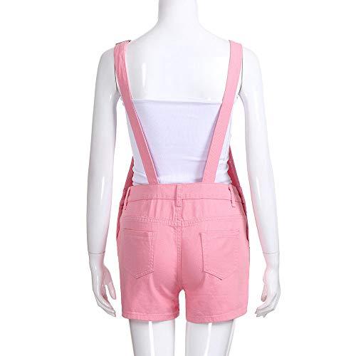 De Rosado De De Shorts es De es Mono Mezclilla Demin Las Suelta Mujeres Jeans Mezclilla ALIKEEY Mezclilla 4wq5va6