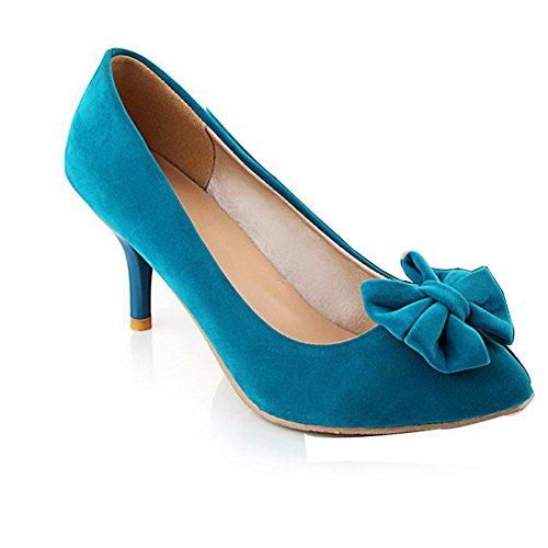 Balamasa Da Donna Tira Su Tacchi Gonne Massicce Pompa Scarpe Blu