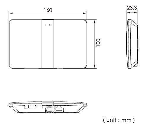 2 Draht Video T/ürsprechanlage Aufputz Gegensprechanlage 2x 7 Zoll Monitor mit WLAN Schnittstelle