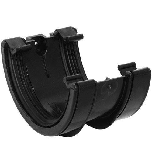 Bulk Hardware BH03094 Half Round Union Bracket, 112mm (4.5 inch) - Black
