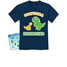 TeeStars - Soon To Be A Big Brother Best Gift - Dinosaur Raptor Kids T-Shirt