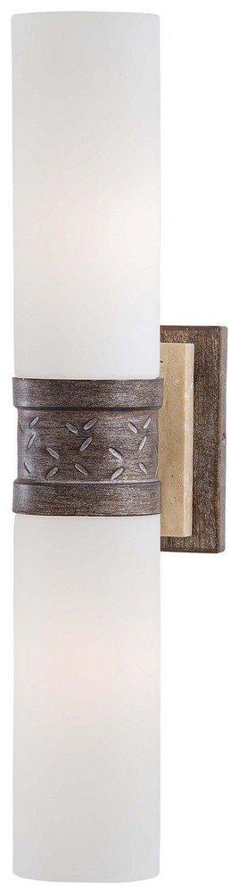 Minka Lavery 4462-273 2 Light Wall Sconce, Aged Patina Iron Finish