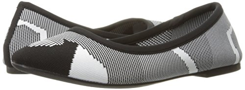 Pictures of Skechers Women's Cleo Wham Flat, Black/White, 8.5 M US 4