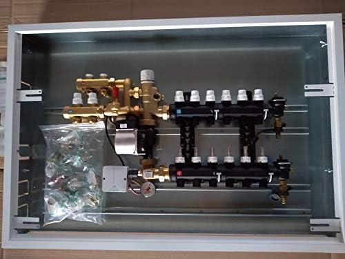 colector 2 + 5 derivados Sistema radiadores caleffi Grupo ajuste punto Fijo con kit de circuito primario caleffi con Caja y portella esmaltada blanca: Amazon.es: Bricolaje y herramientas