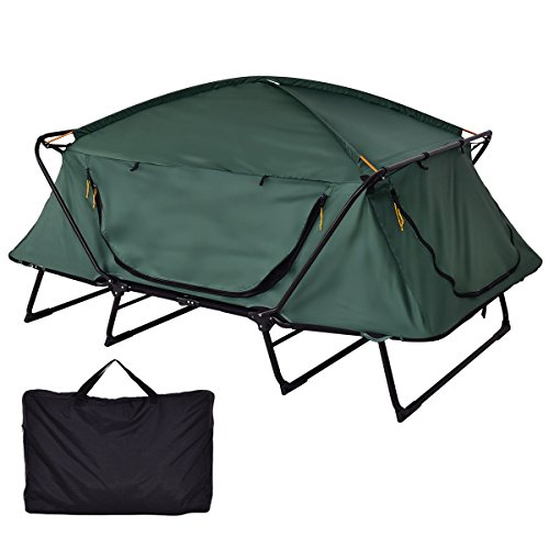 Tangkula Tent Cot Folding Waterproof 2 Person Hiking Elevated Camping Tent with Carry Bag by Tangkula (Image #2)