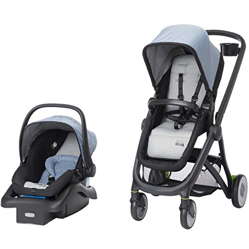 Safety 1st Riva 6-in-1 Flex Modular Travel System with Onboard 35 FLX Infant Car Seat and Base, Stormy Weather by Safety 1st