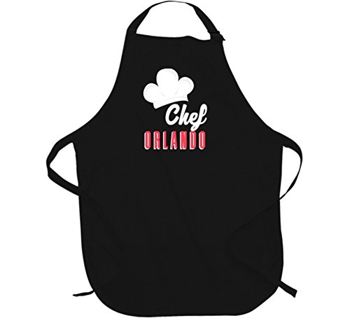 Chef Orlando Custom Name Cooking Kitchen Grill BBQ Dad Gift Apron L - B Orlando