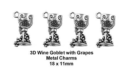 silver grape charms - 7