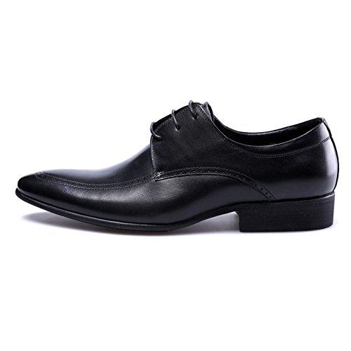 Fashion da Scarpe Uomo Uomo Pelle Pelle Derby Uomo Lavoro Black in Classiche in da Scarpe da da con Risvolto YfxZwY1q