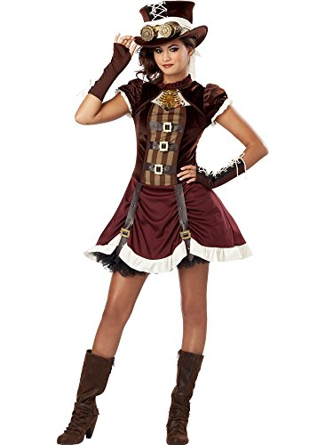 California Costumes Steampunk Girl Tween Costume, -