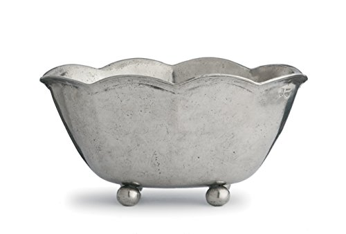 Arte Italica Vintage Scalloped Bowl, Pewter