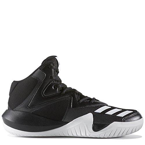 Adidas Mens Pazzo Squadra 2017 Scarpa Da Basket Nucleo Nero / Bianco In Esecuzione Ftw / Core Nero