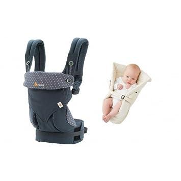 ERGObaby 360 Pack evolutivo Porta bebé azul + cojín bebé ...