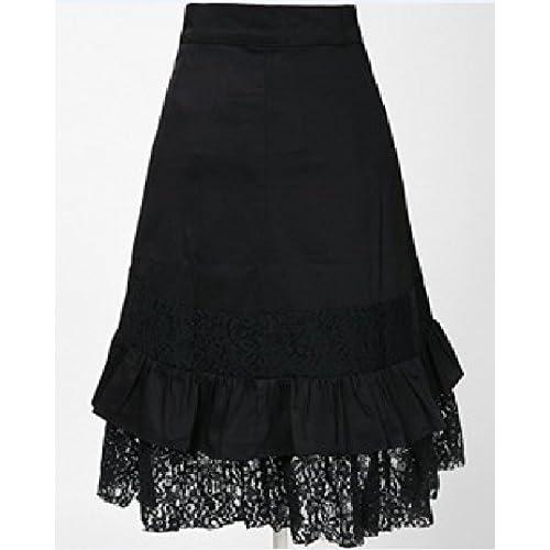 b78b9aae03 El servicio durable Mujer Punk Rock Gótico Faldas Encaje Color Sólido  Asimétrico Falda