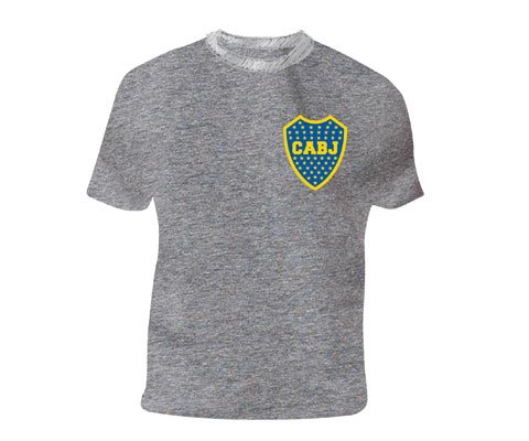 fan products of Boca Juniors official tee shirt grey logo