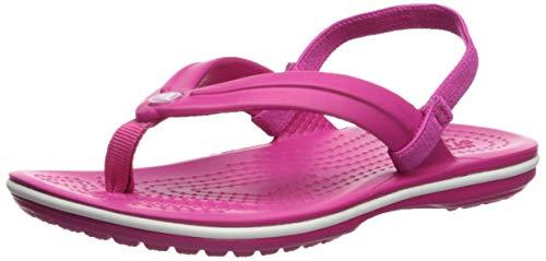 Crocs Baby Crocband Strap Flip Flop Ballet Flat, Candy Pink, 7 M US Toddler