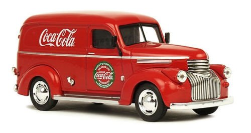 MOTOR CITY CLASSICS 1:43 COCA-COLA - 1945 FORD PANEL DELIVERY VAN DIECAST TOY CAR 443045 from Motor City