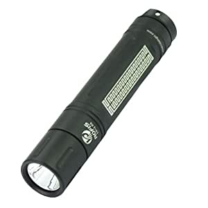 ROFIS ER12 Cree XP-G R5 2 Modes 110 Lumens Mini LED Flashlight with Special Chinese Grain-Black