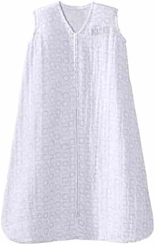 Halo 100% Cotton Muslin SleepSack Wearable Blanket, Circles Grey, Large