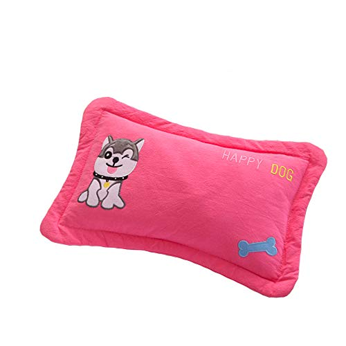 Jiaxiang Baby Pillow Healthy Herb Pillow Buckwheat Hull Pillow or Millet Hull Pillow (0-5 Years Old) (Red Dog, Buckwheat Hull) ()