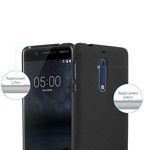Cadorabo - Cubierta protectora para >                                  Nokia 5                                  < de silicona TPU en diseño Escarcha �?Case Cover Funda Carcasa Protección in FROST-NEGRO FROST-NEGRO