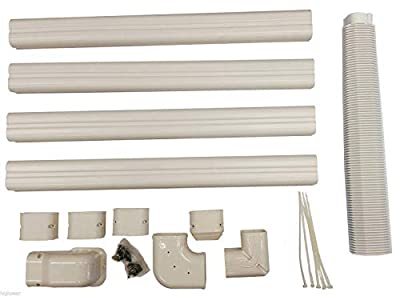 Decorative PVC Line Cover Kit for Mini Split Air Conditioners and Heat Pumps (Certified Refurbished)