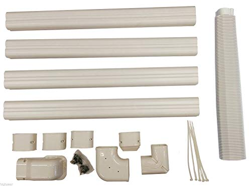 pioneer air conditioner Decorative PVC Line Cover Kit for Mini Split Air Conditioners and Heat Pumps - WYS-LCVR-KIT (Certified Refurbished)