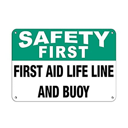 amazon com personalized metal signs safety first first aid life