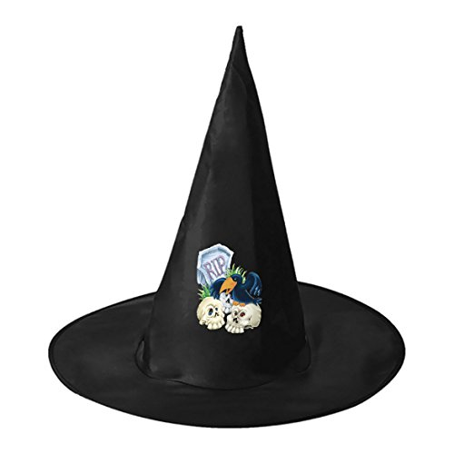 Tombstones and Crows Halloween Customized Black Witch Hat Costume Accessory Cap for Woman - The Crow Costume Tips