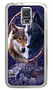 Dreamcatcher Wolves Custom Samsung Galaxy S5/Samsung S5 Case Cover Polycarbonate Transparent