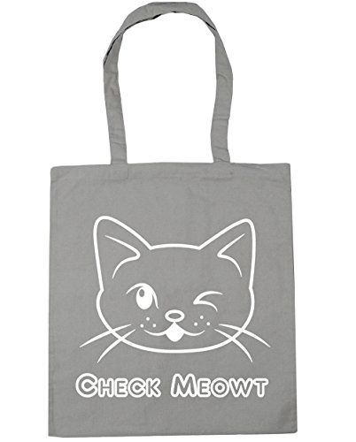Compras Guiño Tote Bolsa 10 Meowt Playa Claro Compruebe Hippowarehouse nbsp;cm De nbsp;cm nbsp;litros 42 X38 Cat Gris q4EcIcXOw
