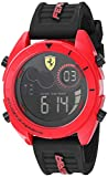 Ferrari Men's Forza Quartz Watch with Silicone Strap, Black, 22 (Model: 0830549)