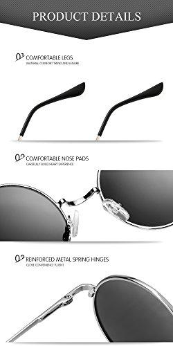 Estilo John Menton Hipis Sol de Resorte de Redondo Negro Círculo Hombres Vintage Polarizadas Gafas Pegueño Montura a Ezil Lennon Metálico S1qErw5q