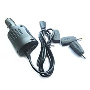 GSI Super Quality Universal 48W Watts Cigarette Lighter Car Charger For Laptop Computers - Includes Separate Plug Tips, Fits Sony, Fujitsu, Samsung, Toshiba, IBM, NEC, Liteon, Gateway, HP, Compaq, Asus, Acer, Sharp Notebooks - USB Port, Charge MP3/MP4 Players, Cellphones Etc.