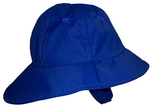N'ice Caps Baby Big Brimmed Crushable Sun Hat (6-12 months, neon blue)
