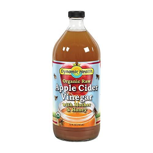 - Dynamic Health Organic Raw Apple Cider Vinegar with Mother & Honey   Vegetarian, Gluten Free, Non-GMO, No Artificial Flavors   32 FL OZ, Btl-Glass