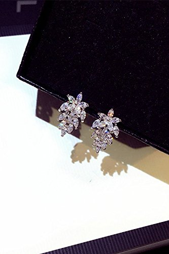 Fashion Woman Earrings earings Dangler Eardrop Gift Crystal Personalized Jewelry Korea Over United States Trend Diamond Leaf Creative s925 Silver Stud Women Girls Birthday Gift