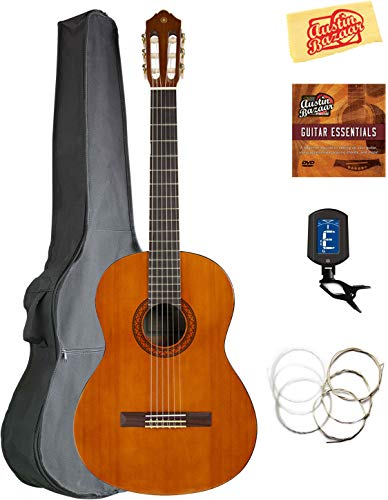Yamaha CGS104A Full-Size Classical Guitar Bundle with Gig Bag, Tuner, Strings, Austin Bazaar Instructional DVD, and Polishing Cloth 41QhyRh  iL