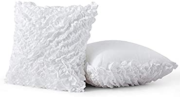 45x45cm Leeden 18x18 Throw Pillow Cover Pack of 2 Decorative Cushion Cases Covers for Sofa Couch Bed Bedroom Bedding Bed Bedroom Room Chair Car Home D/écor Pillowcase Square 18 Inch