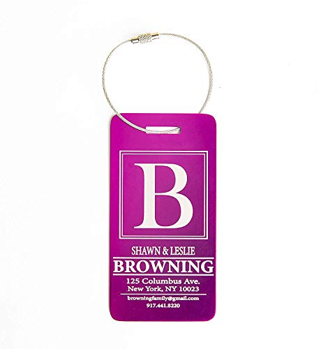 - Personalized Luggage Tags Gifts with Engraved Design - Elegant and Durable Travel Suitcase Name Tags, Gift for Travelers Men and Women (1 Luggage Tag, Pink)