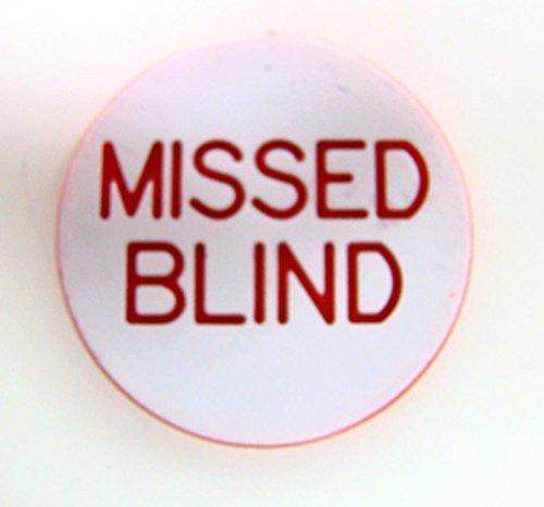 Trademark Poker Missed Blind Button for Poker Game (White)