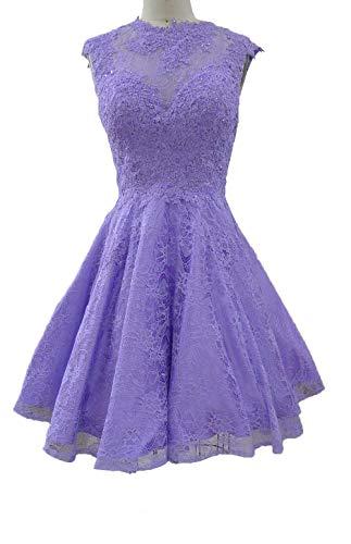Lilac Attraktive Spitze Linie Abendkleider Mini Partykleider Damen Kleider Rock Satin A Charmant Jungendweihe q7wO45c