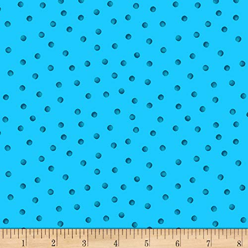 - Henry Glass & Co. Petals Go Round Dots Blue Fabric Fabric by the Yard