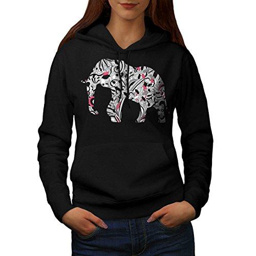 flower-power-elephant-crazy-print-women-new-xl-hoodie-wellcoda