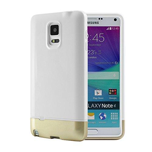 Prodigee Samsung Galaxy Note 4 Impact, White / Gold Weib Schutz dünn Hülle Stück dünner dünn Case Cover