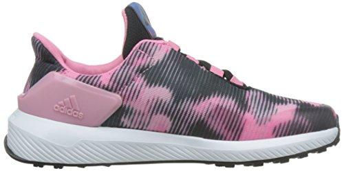 adidas RapidaRun Uncaged K, Sneakers Basses Mixte Enfant Noir (Negbas/Plamet/Rossen)