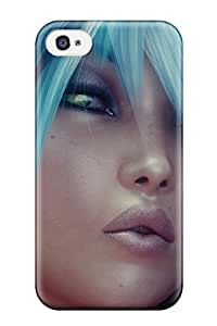 Hot SBsLrjd24278DRbWu Case Cover Protector For Iphone 4/4s- Turquoise Hair