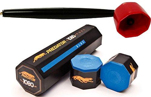 (5 Pieces of Predator 1080 Pure Chalk w/Octagon Chalk Holder Red)