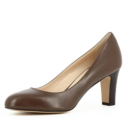 Evita Shoes BIANCA Damen Pumps Glattleder Fango